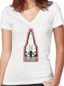 Never Forget: SR1 Women's Fitted V-Neck T-Shirt
