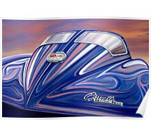 Split Window Corvette Sting Ray Poster