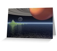Reflections of Saturn Greeting Card