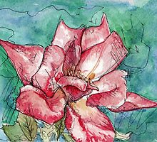 Wild Rose Watercolor Painting by Ela Steel