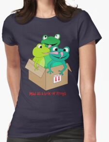 mad as a box of frogs Womens Fitted T-Shirt