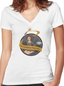 Join Dumbledore's Army today!  Women's Fitted V-Neck T-Shirt