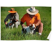 Brittany Spaniels in the Field Poster