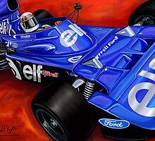 Jackie Stewart Tyrrell Formula One Car by davidkyte