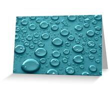 Blue Drops Greeting Card