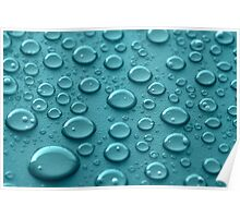 Blue Drops Poster