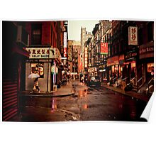 Rainy Afternoon - Chinatown - New York City Poster