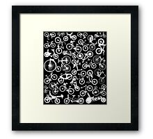 bike bikes Bicycle pattern Framed Print
