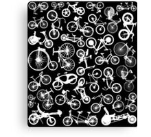 bike bikes Bicycle pattern Canvas Print