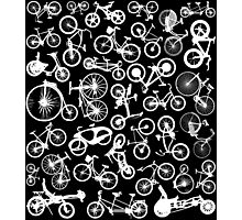 bike bikes Bicycle pattern Photographic Print