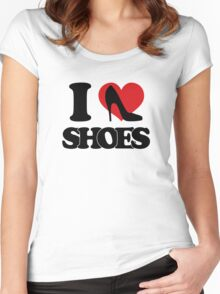 I love Shoes Women's Fitted Scoop T-Shirt