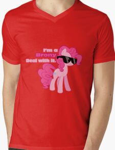 I'm a Brony Deal with it. (Pinkie Pie) - My little Pony Friendship is Magic Mens V-Neck T-Shirt