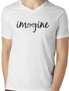 Imagine - John Lennon  Mens V-Neck T-Shirt