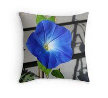 Bluer Than Blue Throw Pillow