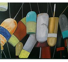 Lobster Buoys Photographic Print