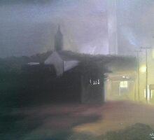 Foggy Night In Provincetown by Ken Pratt