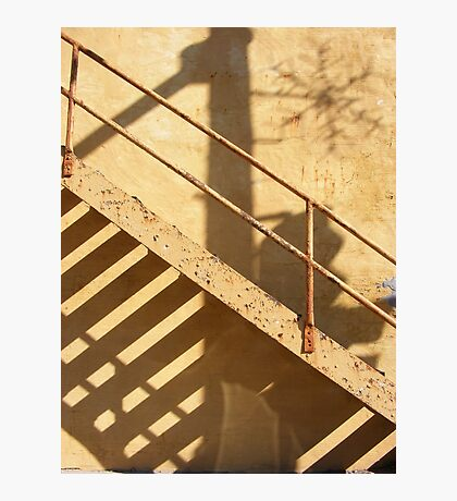 Shadow Stair Photographic Print