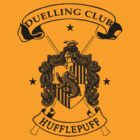 Hufflepuff Duelling Club - Black by Mouan