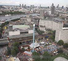 London Eye/I spy 2 x Roller Coaster rides -(260812)- Digital photo by paulramnora