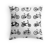 bike pattern Bicycle madness Throw Pillow