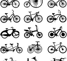 bike pattern Bicycle madness by T J B