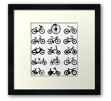 bike pattern Bicycle madness Framed Print