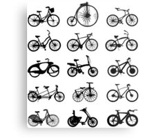 bike pattern Bicycle madness Metal Print