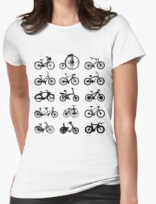 bike pattern Bicycle madness Womens Fitted T-Shirt