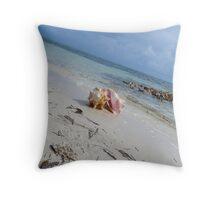 One conch shell. Throw Pillow