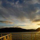 Sun Setting on Deck by Fredda Gordon