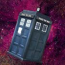 Space / nebula TARDIS red by Domsbubble
