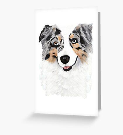 Toby ~ Australian Shepherd ~ Oil Painting Greeting Card