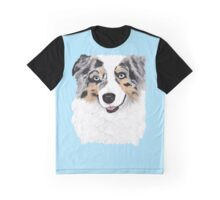 Toby ~ Australian Shepherd ~ Oil Painting Graphic T-Shirt