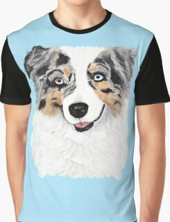 Toby ~ Australian Shepherd ~ Oil Painting Graphic T-Shirt