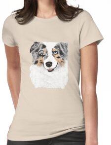 Toby ~ Australian Shepherd ~ Oil Painting Womens Fitted T-Shirt
