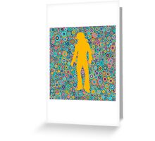 Psychedelic Seventies funky disco party Greeting Card