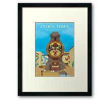 Majora's Mask - Clock Town Poster Framed Print