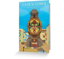 Majora's Mask - Clock Town Poster Greeting Card