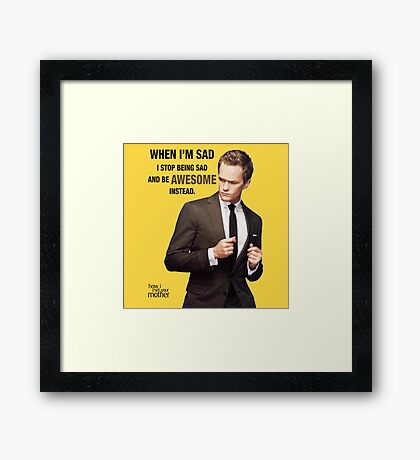 Awesome - HIMYM Framed Print