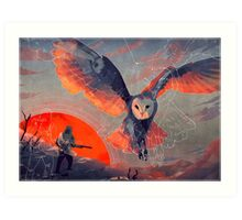 Owl Hunt Art Print