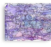 Blue & Purple Abstract Color Study Canvas Print