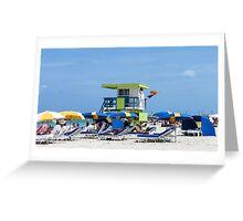 Beach scene. Greeting Card