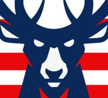 Milwaukee bucks murica Sticker