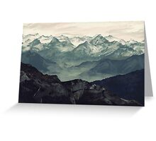 Mountain Fog Greeting Card