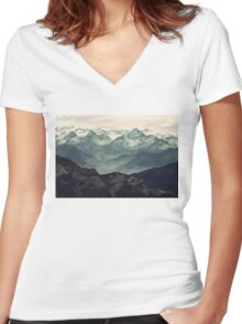 Mountain Fog Women's Fitted V-Neck T-Shirt