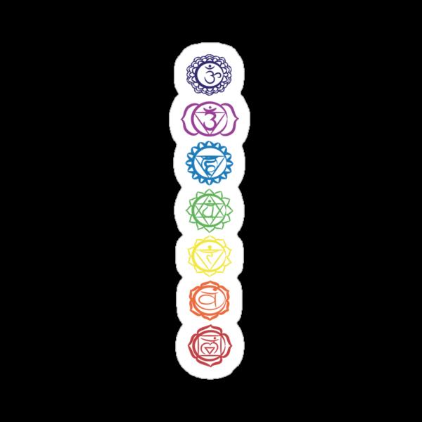 seven chakra symbols by offpeaktraveler