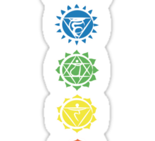 seven chakras vertical (dark tee) Sticker