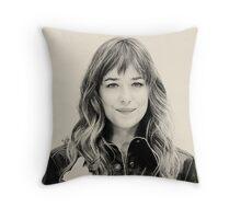 Dakota Johnson Throw Pillow