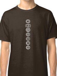 seven chakras (white on dark tee) Classic T-Shirt