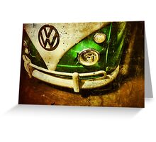 VW Bus Greeting Card